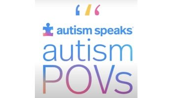 Image of the Autism Speaks logo with the text 'autism POVs' underneath